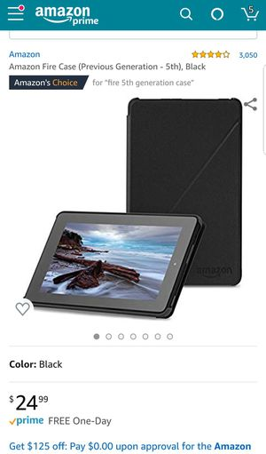 Amazon fire case for 5th generation tablet for Sale in Milwaukie, OR