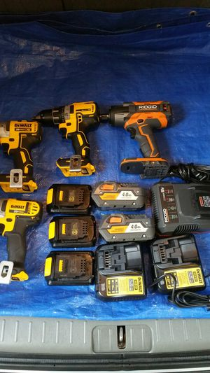 $525 ..Dewalt Set and Ridgid 1/2 impact wrench.... COMBO SET. COMBO for Sale in Evergreen, CO