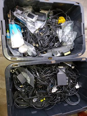 Containers of wires and computer parts for Sale in Charlotte, NC