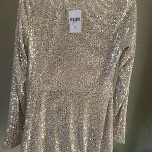 Sequin Party Wear Dress , White In Color, Small In Size, Fit For Petite for Sale in Smyrna, GA