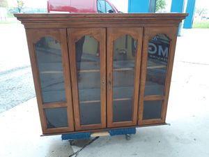 China cabinet topper glass shelves w/light..great for displaycabinet.. FREE FREE COME GET IT! for Sale in Joliet, IL