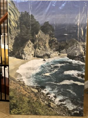 "BIG SUR California- Original photography on canvas. 60""high x 40"" wide. New in plastic. for Sale in Plano, TX"