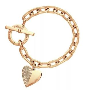 MICHAEL KORS Gold-Tone  Heart Chain Toggle Bracelet for Sale in Sterling, VA