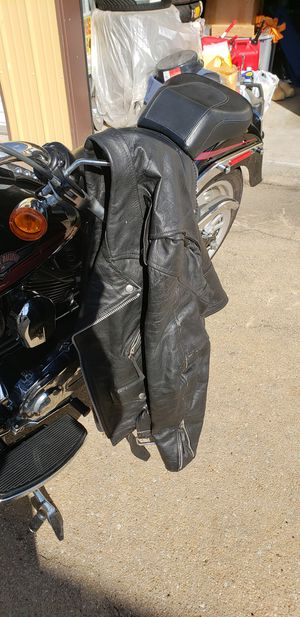 River Road brand Unisex leather motorcycle jacket for Sale in Haysville, KS