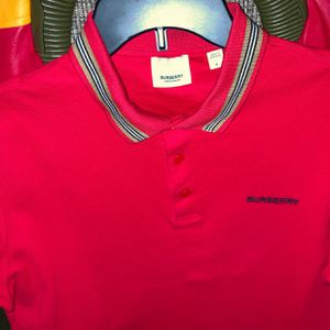 "Burberry polo Collar shirt Red/black/Tan Medium ""OBO Willing to negotiate for Sale in Trenton, NJ"