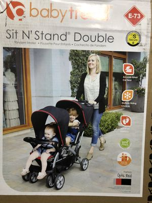 Baby Trend sit n stand double stroller for Sale in San Bernardino, CA