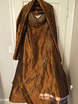 Bronze Strapless Dress w/Shawl for Sale in North Smithfield, RI