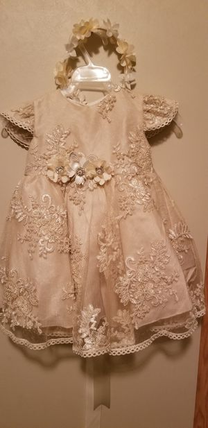 Baptism dress and diadem for girls for Sale in South Sioux City, NE