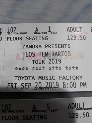 Temerarios concert tickets for Sale in Grand Prairie, TX