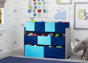 Kids Deluxe Multi-Bin Toy Organizer with Storage Bins, Grey/Blue Bins for Sale in Los Angeles, CA
