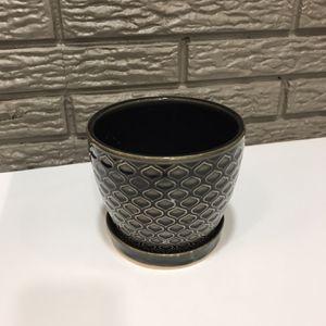 Black Ceramic Planter/ Plant Pot for Sale in Salt Lake City, UT