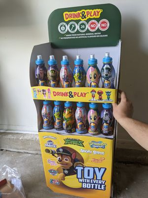 Drink &play with disney surprise toys no sugar drinks for kids message me for wholesale prices for Sale in Chicago, IL