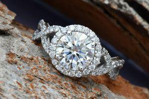 Celtic knot ring-Celtic engagement ring-2 carat Moissanite halo Engagement Ring-Promise ring-Custom Ring for Sale in Fairfax, VA