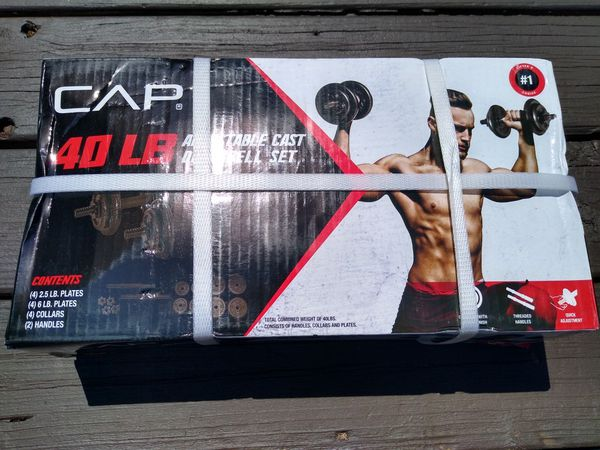 CAP 40 lb Adjustable Cast Dumbbell Set - BRAND NEW IN HAND!
