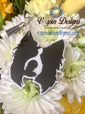Border Collie acrylic keychain for Sale in North Las Vegas, NV
