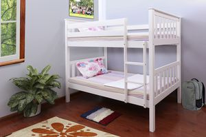 Twin over Twin Stackable Bunk Bed, White for Sale in Santa Ana, CA