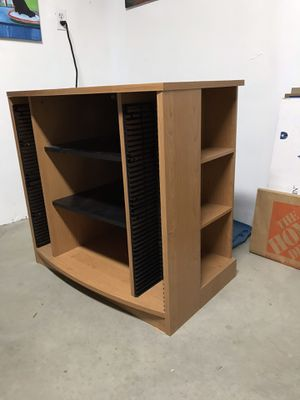 TV Stand Entertainment Center CD Rack & DVD storage for Sale in Renton, WA