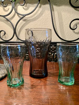 Coca-Cola collectible drink glasses for Sale in Clovis, CA