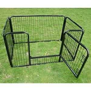 New in box 49 length x 32 wide x 28 inches tall 4 panels heavy duty metal playpen dog cage crate kennel for pet for Sale in Montebello, CA