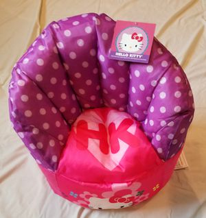 Brand New Kids Hello Kitty Bean Bag Chairs for Sale in New Brunswick, NJ