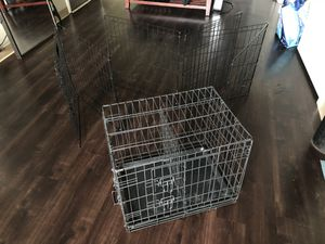 30in Double Door Dog Crate + 24in Dog Fence for Sale in Boston, MA