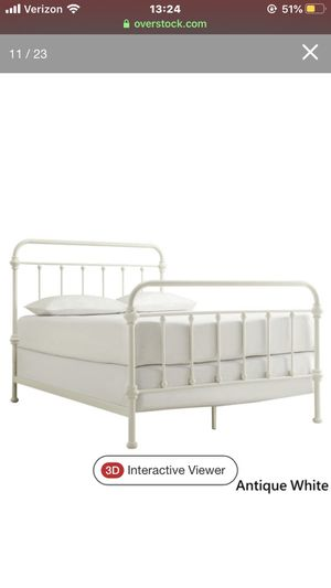 White metal bed frame for Sale in P C BEACH, FL