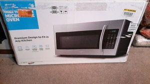 "NEW IN BOX SAMSUNG 30"" W 1.8 cu. ft. Over the Range Microwave in Stainless Steel Finish, Model ME18H704SFS Can deliver for Sale in Mesa, AZ"