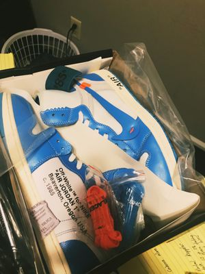 Jordan 1 Off White Unc for Sale in Tallahassee, FL