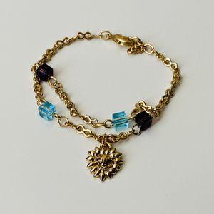 18k Gold Girls Sunflower Bracelet for Sale in Houston, TX