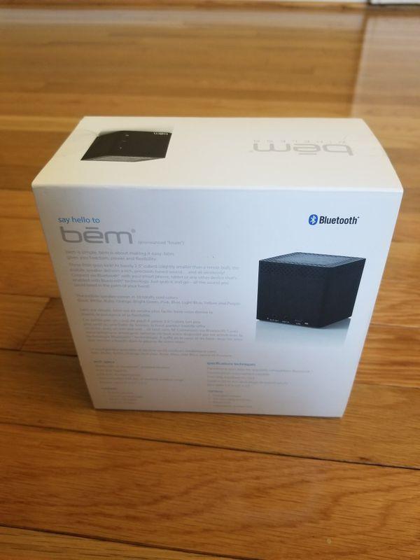 BEM Wireless Rechargeable Bluetooth Speaker - New Sealed -Black