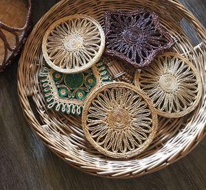 Vintage wicker woven trivets for Sale in Corona, CA