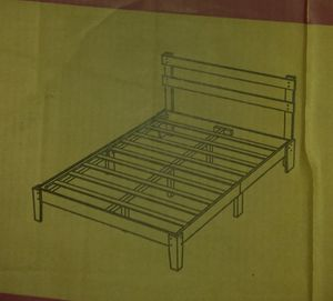 Solid Wood Platform Bed Frame with Headboard size KING for Sale in Modesto, CA