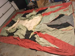 Large 15x9 foot multi-color tent, no poles or ropes, only tent for Sale in Abilene, TX