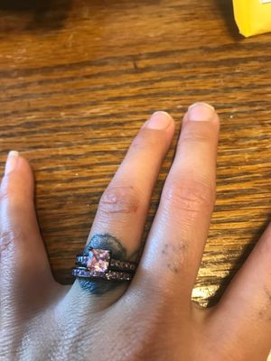 Shire pink wedding ring for Sale in York, PA