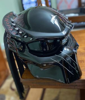 Selling my black predator motorcycle helmet for Sale in Cleveland, OH