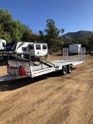 Flatbed trailer car hauler 21.5' long for Sale in Jamul, CA