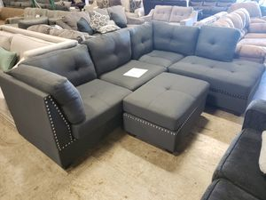 Brand New Sectional Sofa and ottoman tax included free delivery for Sale in Hayward, CA