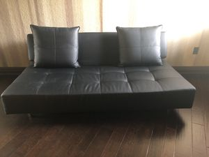 Scan and design Leather futon couch for Sale in Tampa, FL