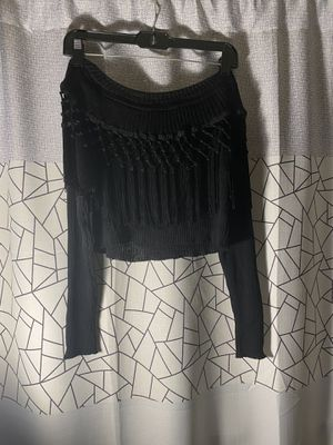 Fringe off shoulder crop sweater for Sale in Silver Spring, MD