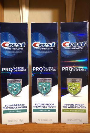CREST PRO-HEALTH PRO ACTIVE DEFENSE TOOTHPASTE for Sale in Phoenix, AZ