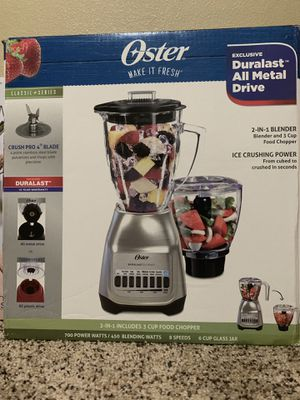Oster Blender with food chopper for Sale in Salem, OR