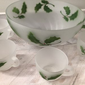 Vintage Christmas Punch Bowl set for Sale in Springfield, VA