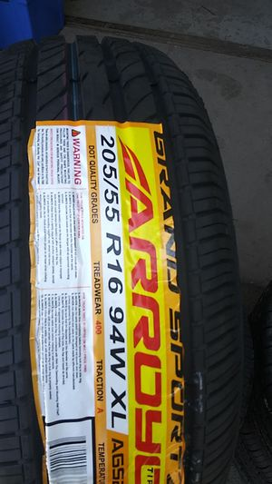 4 new 205 55 16 only tires for Sale in Waterbury, CT