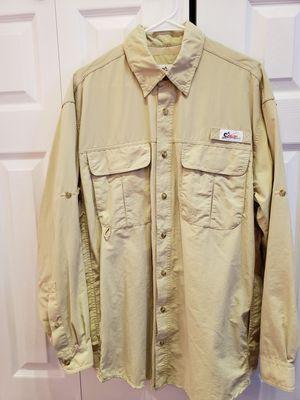 World Wide Sportman fishing boating shirt large - Tan for Sale in Pembroke Pines, FL
