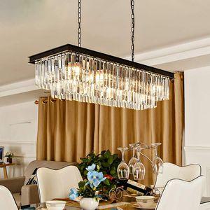 8-Lights K9 Rectangle Crystal Pendant Chandelier for Dining Room for Sale in Henderson, NV