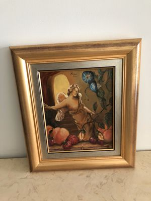 "Fabulous Vintage Oil Painting on Canvas Signed ""Amor 1995"" for Sale in Lake Worth, FL"