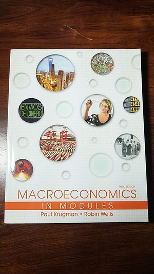Macroeconomics 3rd Edition In Modules By Paul Krugman and Robin Wells for Sale in Portland, OR