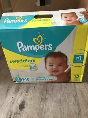 Diapers : Pampers Swaddlers (ONLY 74 DIAPERS LEFT NOT THE 148. Brand new bag. Not opened for Sale in Spring, TX