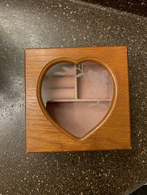 antique wooden and glass jewelry box for Sale in San Antonio, TX
