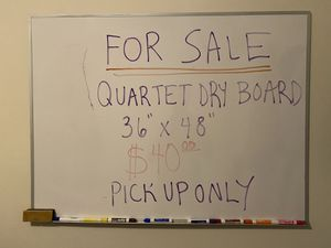 Quartet Magnetic Erase Board (with markers) for Sale in Queens, NY